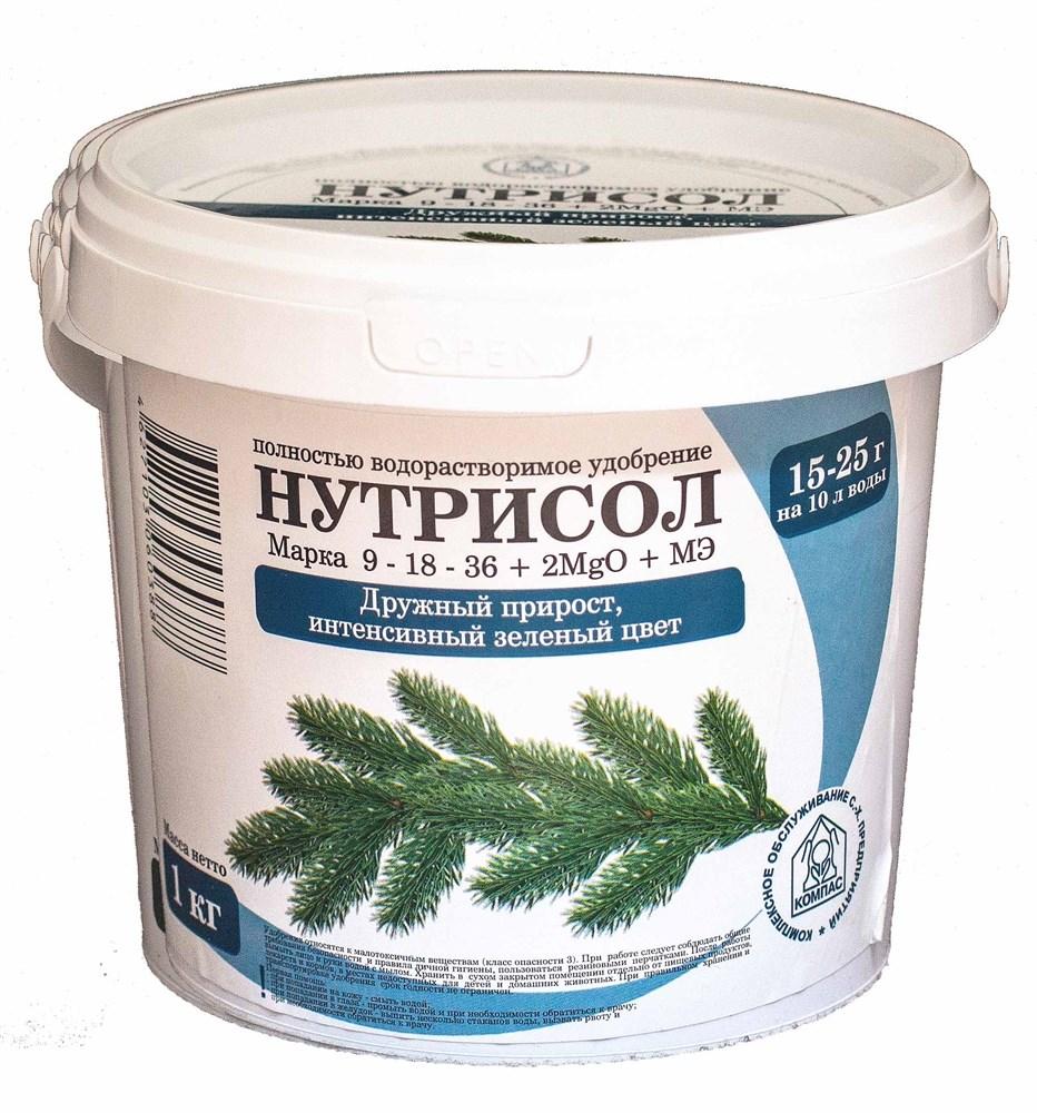 Нутрисол для хвойных растений (9-18-36+2 Мg+микроэлементы)